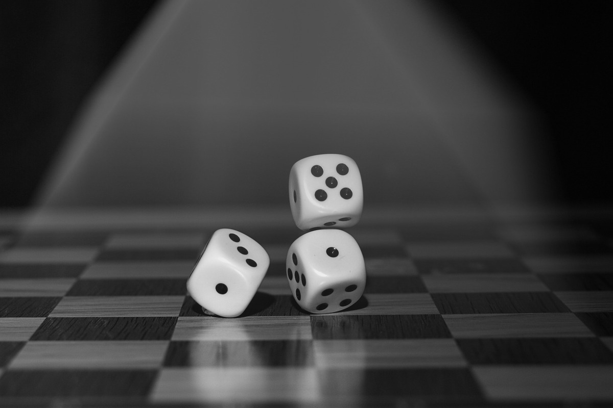 three dices for playing
